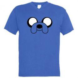 Мужская футболка  с V-образным вырезом Джейк - FatLine