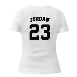 Женская футболка с V-образным вырезом Джордан 23