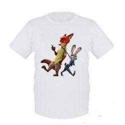 Детская футболка Джуди и Ник - FatLine