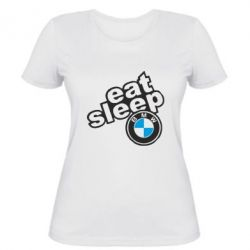 Жіноча футболка Eat, sleep, BMW