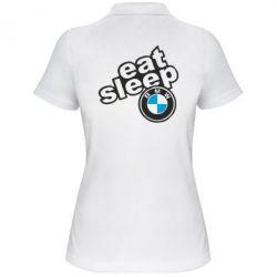 Женская футболка поло Eat, sleep, BMW
