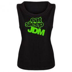 Женская майка Eat sleep JDM - FatLine