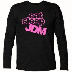 Футболка с длинным рукавом Eat sleep JDM - FatLine