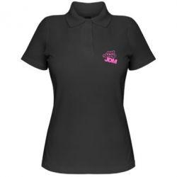 Женская футболка поло Eat sleep JDM - FatLine