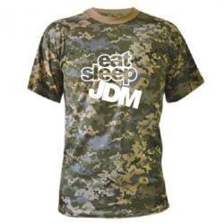 Камуфляжная футболка Eat sleep JDM - FatLine