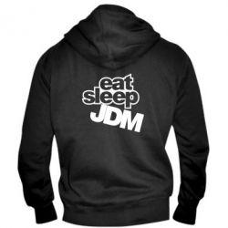Мужская толстовка на молнии Eat sleep JDM - FatLine