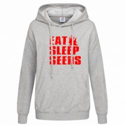 Женская толстовка Eat Sleep Seeds (pirat bay) - FatLine