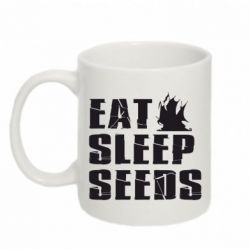 Кружка 320ml Eat Sleep Seeds (pirat bay) - FatLine