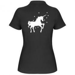 Женская футболка поло Единорог - FatLine