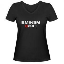 Женская футболка с V-образным вырезом Eminem 2013 - FatLine
