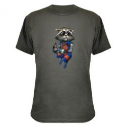 Камуфляжная футболка Енот Ракета и Грут - FatLine