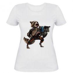 Женская футболка Енот Стражи Галактики