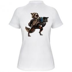 Женская футболка поло Енот Стражи Галактики