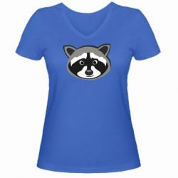 Женская футболка с V-образным вырезом Енотик