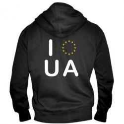 Мужская толстовка на молнии Euro UA - FatLine