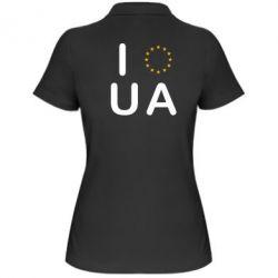 Женская футболка поло Euro UA - FatLine