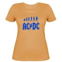 Женская футболка Эволюция AC\DC - FatLine