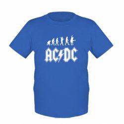 Детская футболка Эволюция AC\DC - FatLine
