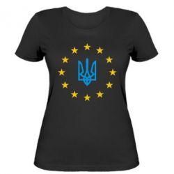Женская футболка ЕвроУкраїна - FatLine
