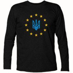 Футболка с длинным рукавом ЕвроУкраїна - FatLine
