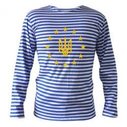 Тельняшка с длинным рукавом ЕвроУкраїна - FatLine