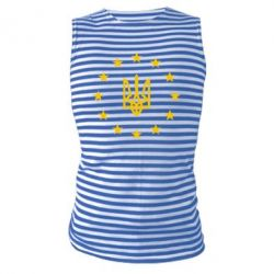 Майка-тельняшка ЕвроУкраїна - FatLine