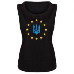 Женская майка ЕвроУкраїна - FatLine