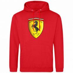 Мужская толстовка Ferrari 3D Logo - FatLine