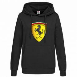 Женская толстовка Ferrari 3D Logo - FatLine