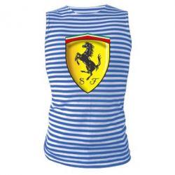 Майка-тельняшка Ferrari 3D Logo - FatLine