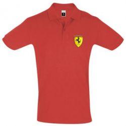 Футболка Поло Ferrari 3D Logo - FatLine