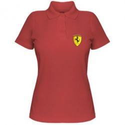Женская футболка поло Ferrari 3D Logo - FatLine