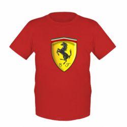 Детская футболка Ferrari 3D Logo - FatLine