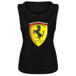 Женская майка Ferrari 3D Logo - FatLine