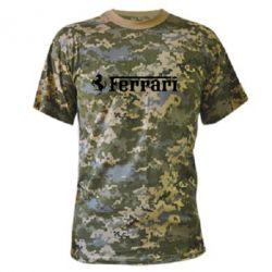 Камуфляжная футболка Ferrari - FatLine