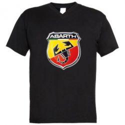 Мужская футболка  с V-образным вырезом FIAT Abarth - FatLine