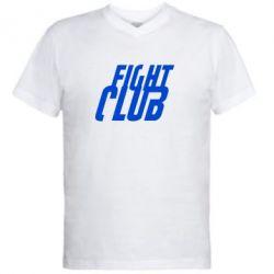 Мужская футболка  с V-образным вырезом Fight Club - FatLine