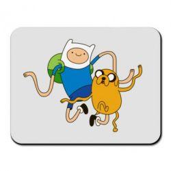 Коврик для мыши Фин и Джейк танцуют 2 - FatLine