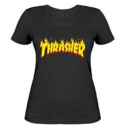 Женская футболка Fire Thrasher - FatLine