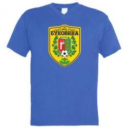 Мужская футболка  с V-образным вырезом ФК Буковина Черновцы - FatLine