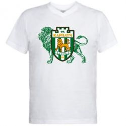 Мужская футболка  с V-образным вырезом ФК Карпаты Львов