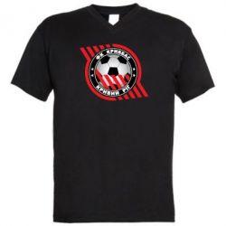 Мужская футболка  с V-образным вырезом ФК Кривбасс Кривой Рог - FatLine