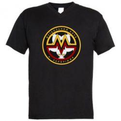Мужская футболка  с V-образным вырезом ФК Металург Запоріжжя - FatLine