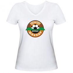 Женская футболка с V-образным вырезом ФК Шахтар - FatLine