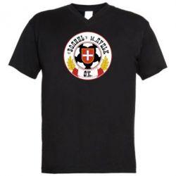 Мужская футболка  с V-образным вырезом ФК Волынь Луцк - FatLine