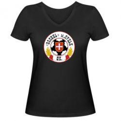 Женская футболка с V-образным вырезом ФК Волынь Луцк - FatLine