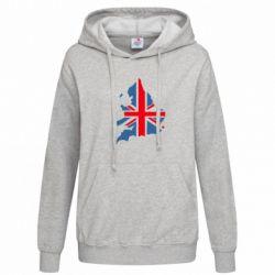 Женская толстовка Флаг Англии - FatLine