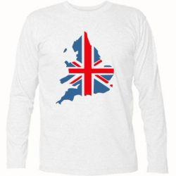Футболка с длинным рукавом Флаг Англии - FatLine