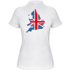 Женская футболка поло Флаг Англии - FatLine
