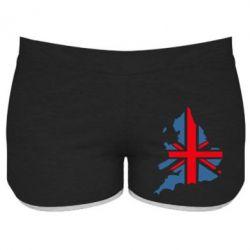 Женские шорты Флаг Англии - FatLine